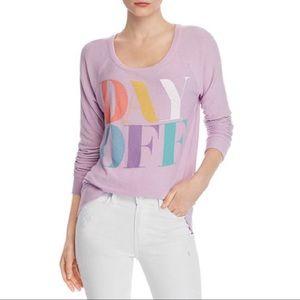 Chaser Lilac Day Off Sweatshirt Sz XS